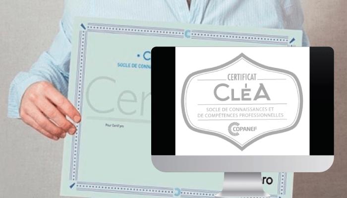 Certificat Cléa numérique